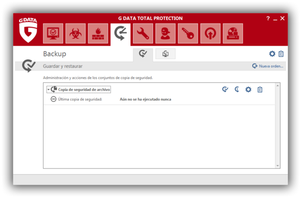 Screenshot G DATA Total Protection – Backup