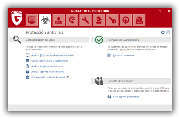 Screenshot G DATA Total Protection – Proteccion antivirus